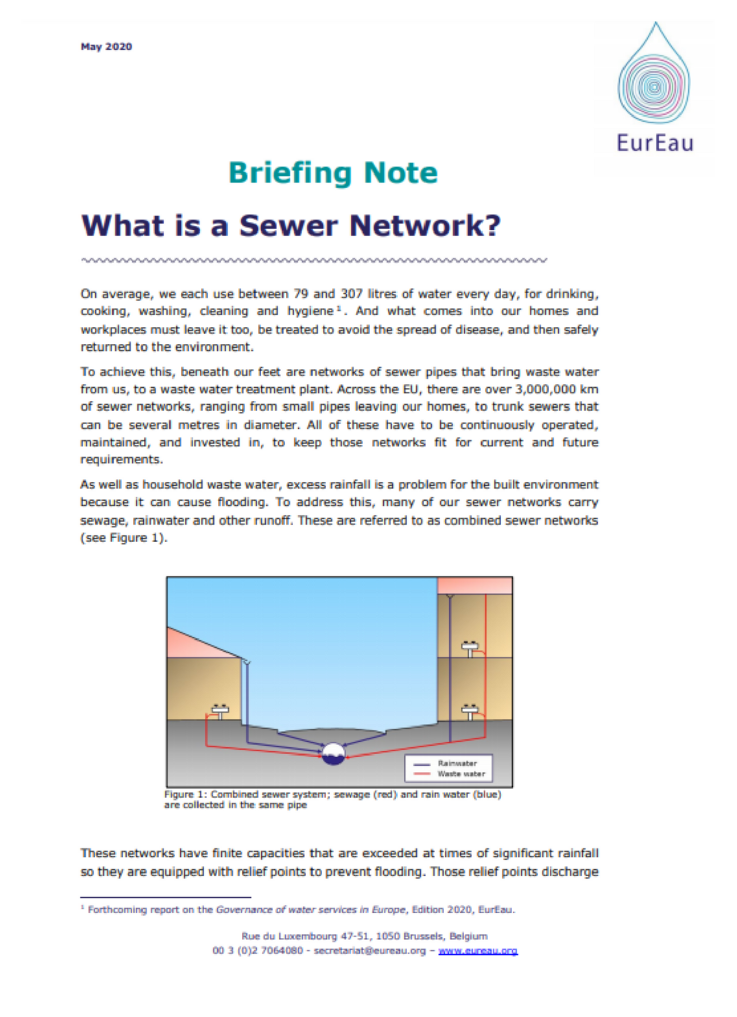 Briefing note on what is a sewer network