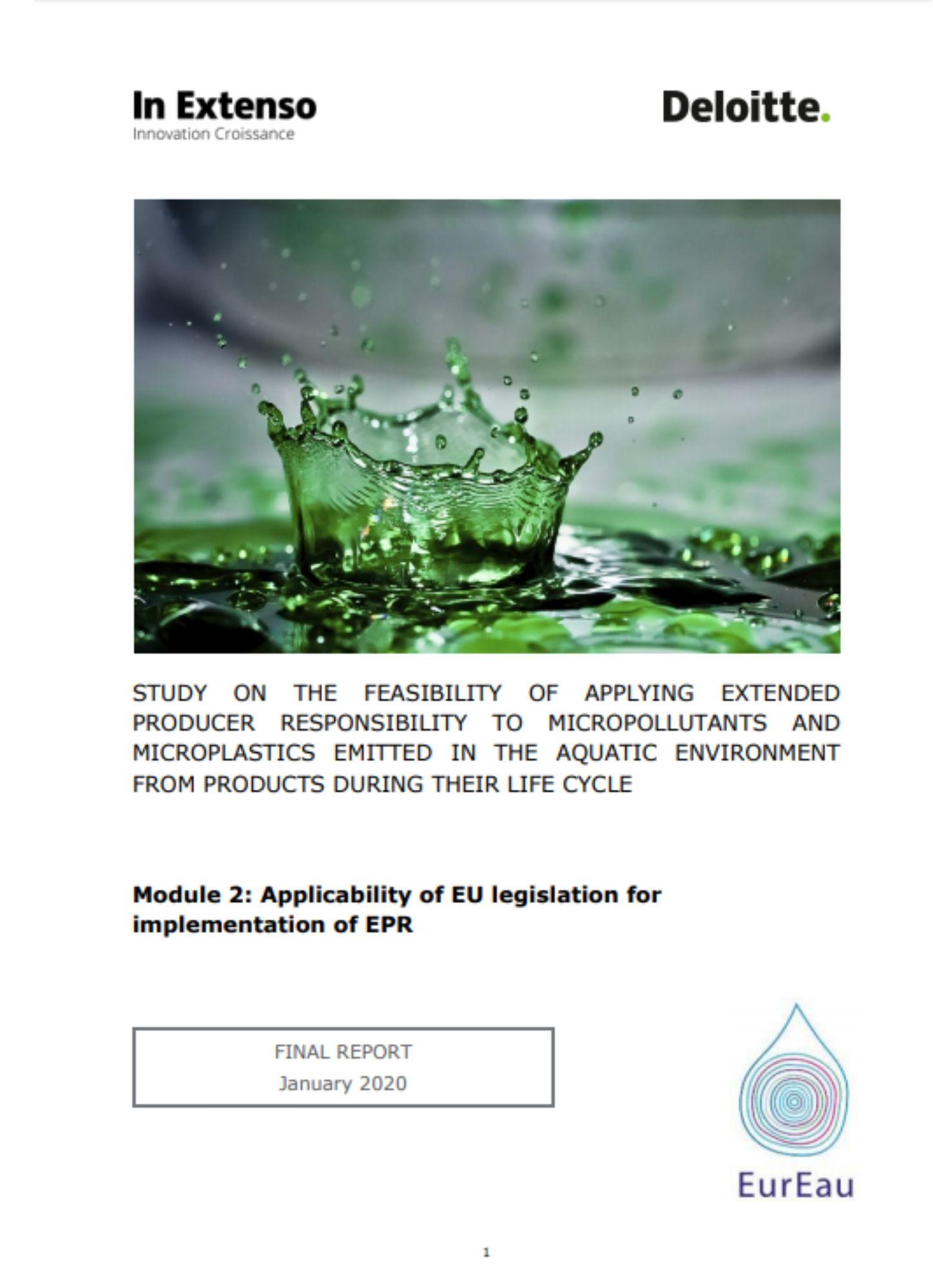 Deloitte EurEau Report - Extended Producer Responsibility - Module 2