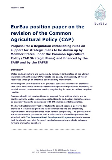 The revision of the Common Agricultural Policy