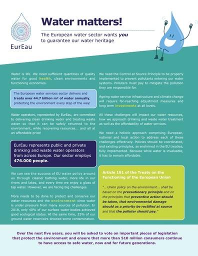 EurEau manifesto 2019