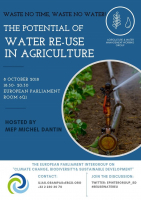 The potential for water reuse in agricutlure