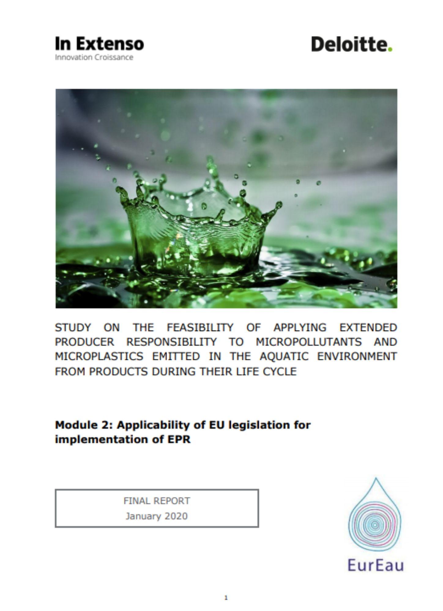 Deloitte EurEau Report - Extended Producer Responsibility - Module 3