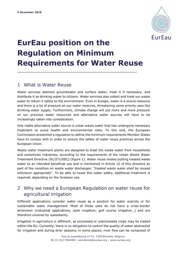 Water Reuse Regulation