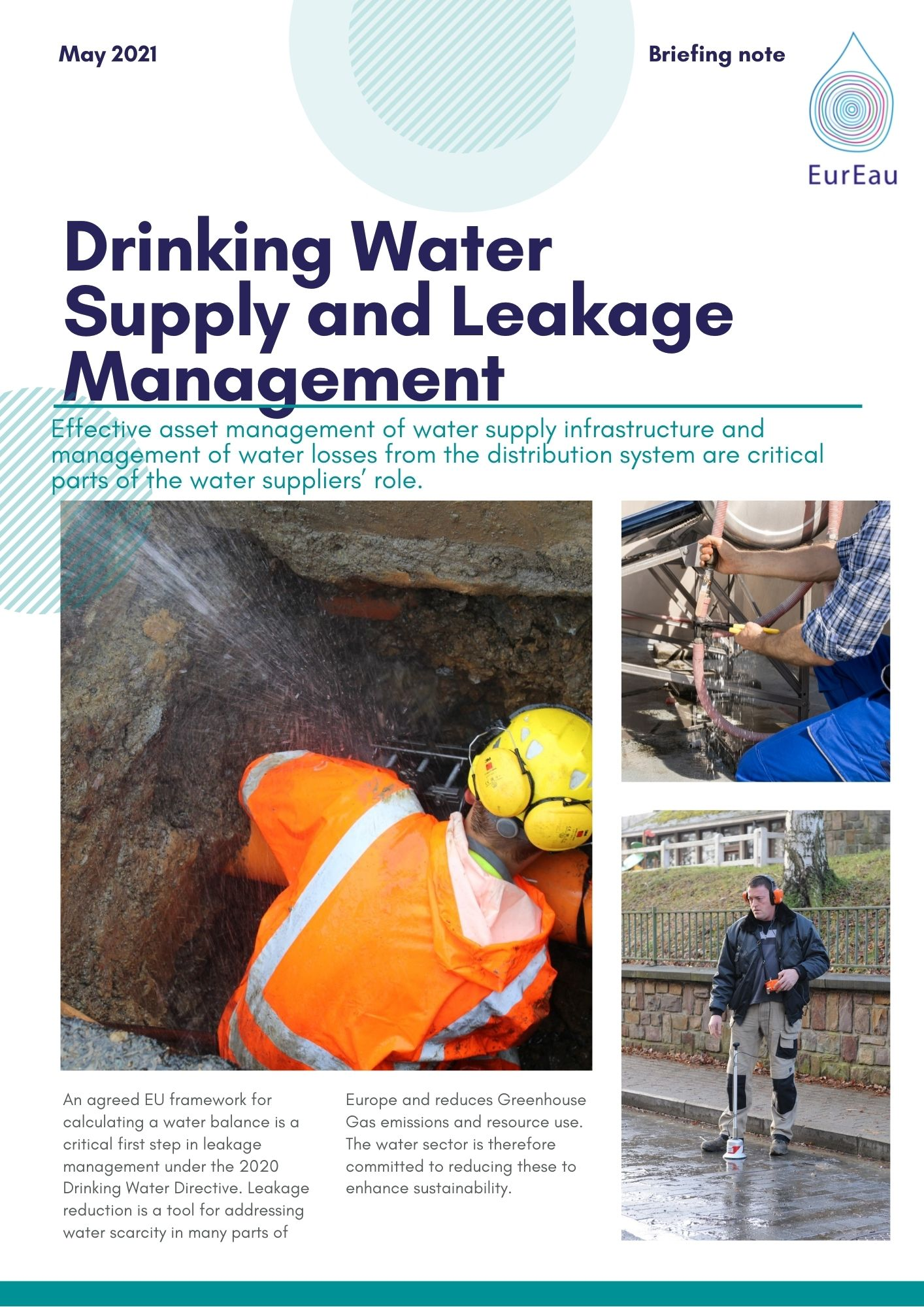 Briefing Note on Drinking Water Supply and Leakage Management